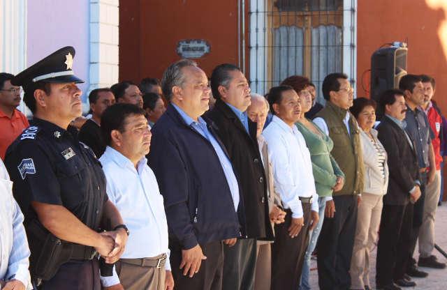 Realizan autoridades de Huamantla fijación de Bando Solemne