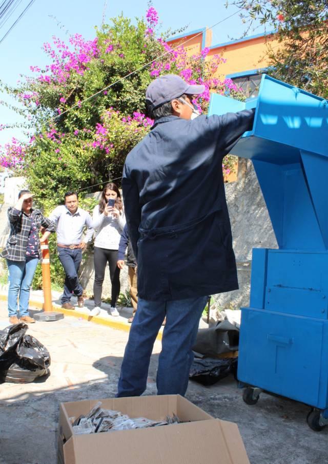 10 Mil 806 formatos de credencial fueron pulverizadas por el INE Tlaxcala