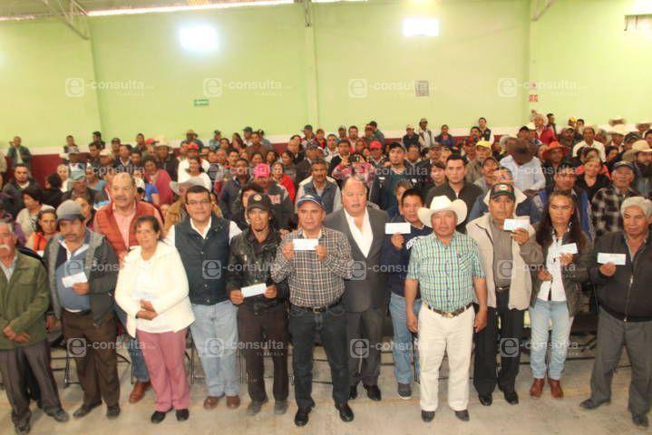 Atlangatepec fue sede de la 4ta entrega de apoyos a Siniestros Agropecuarios