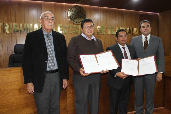 Firman UPET y TET convenio para capacitación en materia jurídico-electoral