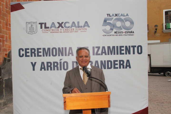 Alcalde encabezo Arrio de Bandera en la capital del estado