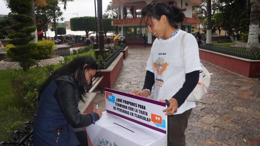 San Pablo del Monte, se une al Día Mundial contra la Trata de Personas