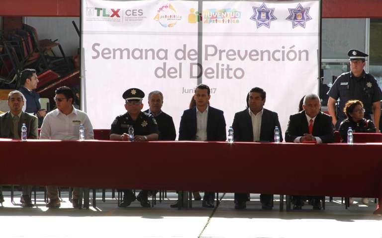 """Inaugura Policía Estatal """"8va Semana de Prevención del Delito"""""""