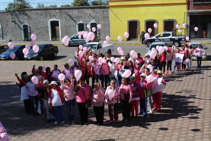 El municipio de Tetla de la Solidaridad se suma a la lucha contra el Cáncer de Mama