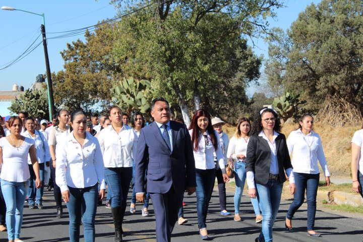 Tetla realiza ceremonia conmemorativa del Natalicio de Benito Juárez