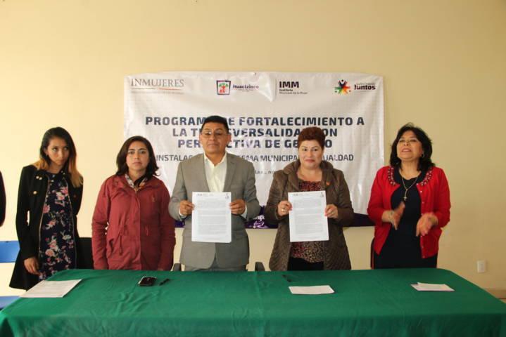 Alcalde fortalece estrategias sobre equidad de género con instalación de consejo