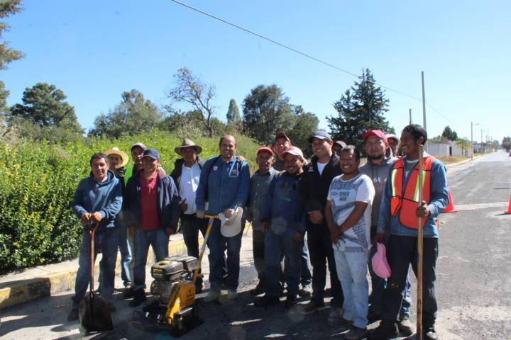 Jornada de trabajo múltiple rinde beneficios a Santa Cruz Tlaxcala