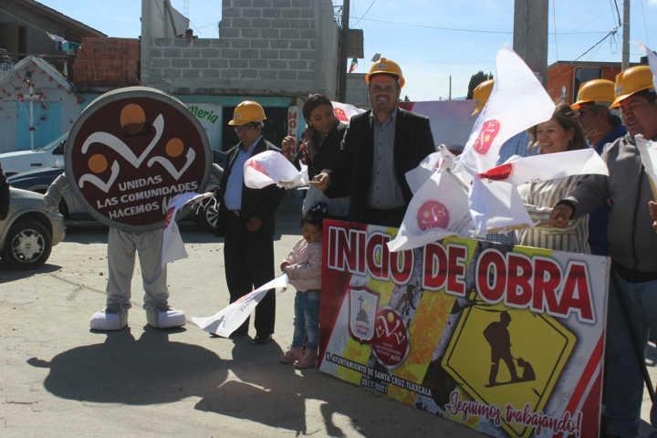 Da banderazo Sanabria Chávez para construir drenaje pluvial en San Miguel Contla