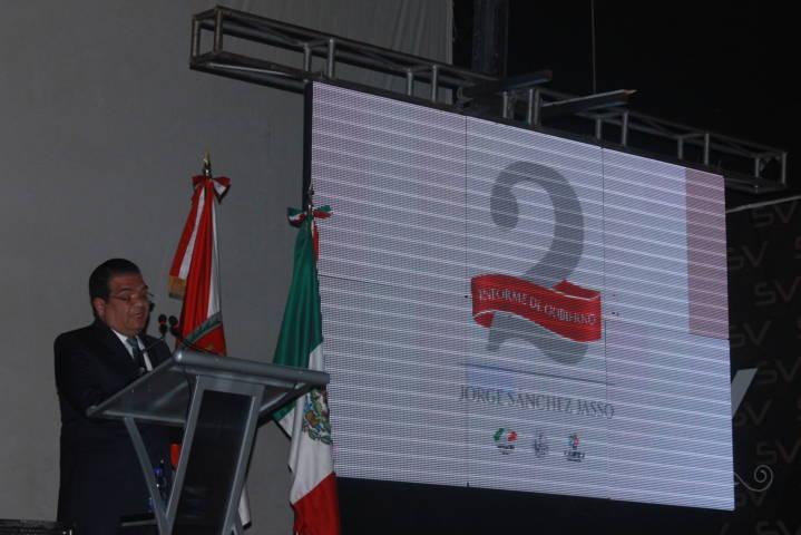 Sánchez Jasso resalta obras, acciones y finanzas sanas en su 2do informe de gobierno
