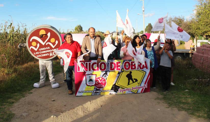 Se da inicio con la pavimentación en Privada 1 De Mayo de Santa Cruz Tlaxcala