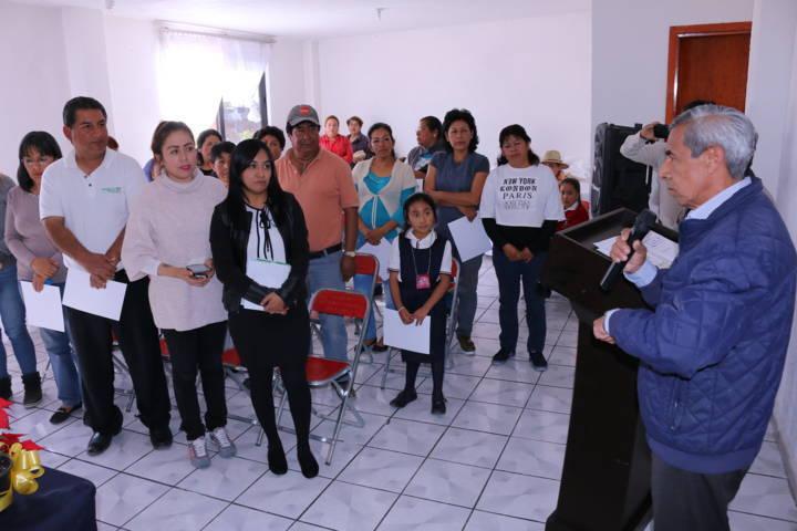 Clausura de Curso de PROFECO en Ayuntamiento de Texóloc