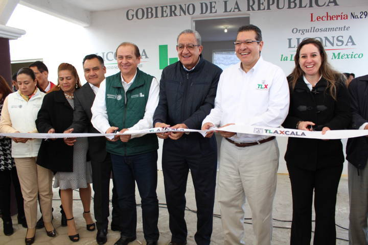 Se inaugura lechería de Liconsa en Agrícola de Dolores Tetla de la Solidaridad