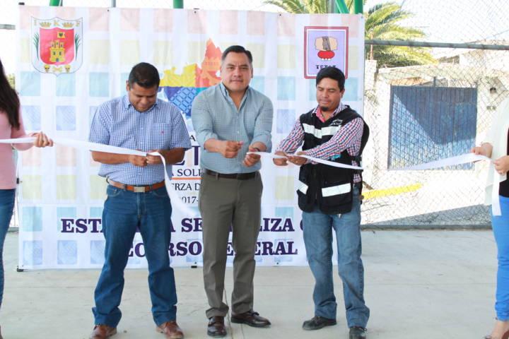 Se inaugura techumbre en la comunidad de Chiautzingo en Tetla de la Solidaridad