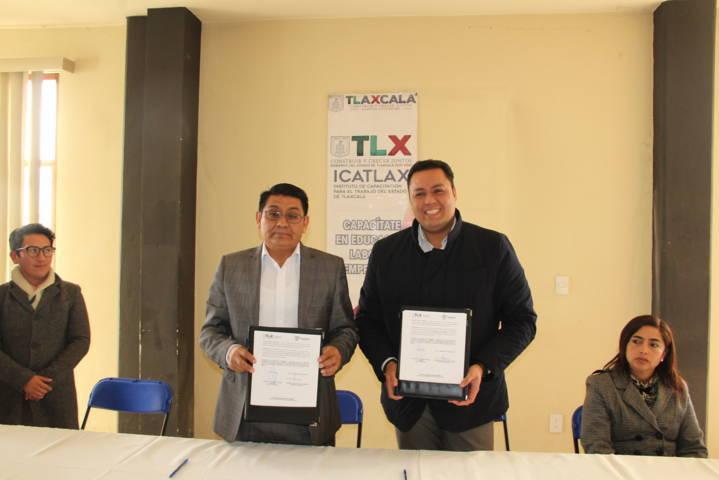 Huactzinco e ICATLAX signan convenio para mejorar la calidad de vida de las personas