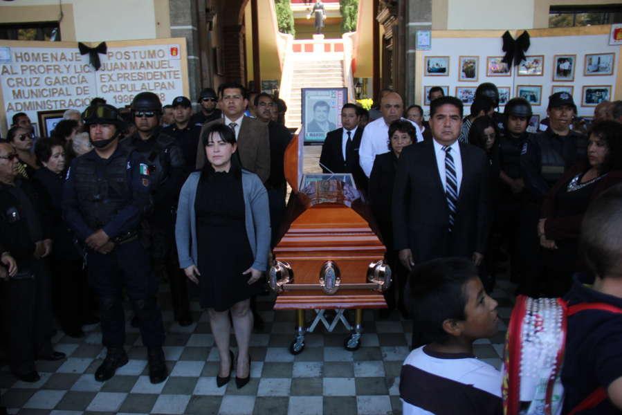 Realizan Homenaje póstumo a ex Alcalde de Calpulalpan