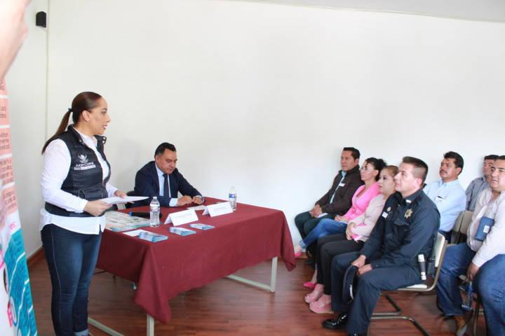 Sensibilizan a funcionarios municipales sobre la prevención de la trata de personas
