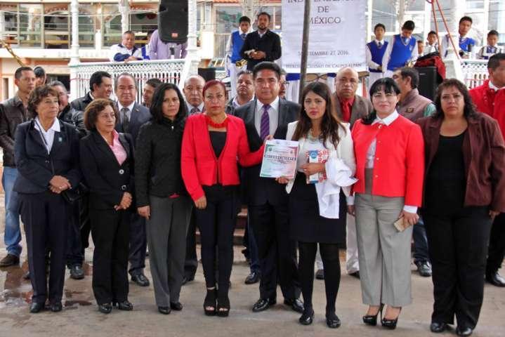 Conmemoran en Calpulalpan CXCV Aniversario de consumación de Independencia