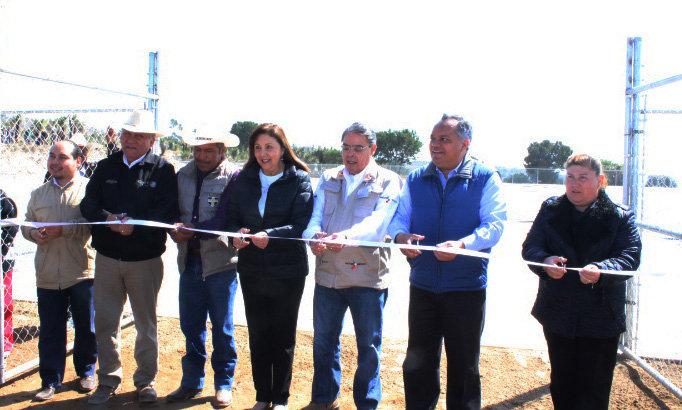 Inauguran en comunidad de Huamantla obra de captación de agua