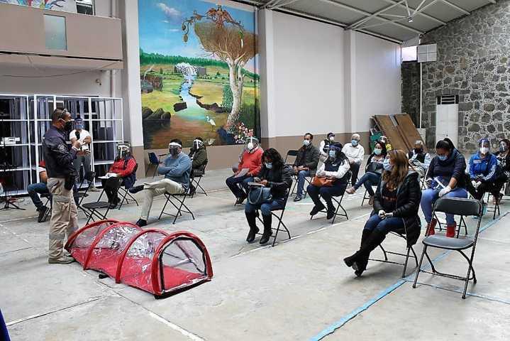 Capacitan al personal del ayuntamiento de Yauhquemehcan en manejo de protocolos Covid-19