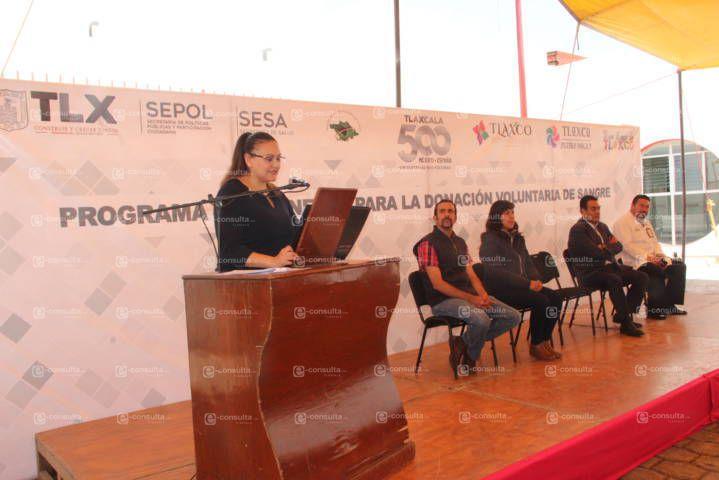 Tlaxco se suma a la campaña permanente de donación de sangre
