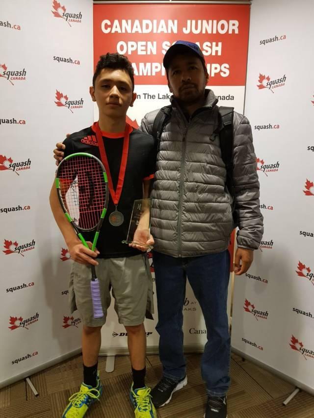 Gana plata José Alfredo Mijares en Canadian Junior Open de squash