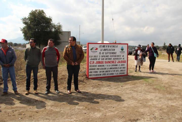 Alcalde entrega 3 obras de servicios básicos, mejoramiento urbano y educación
