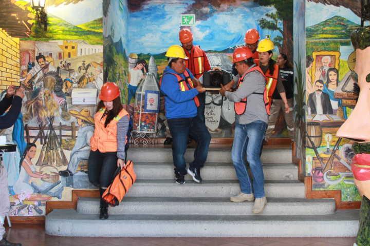 Tetla se suma con acciones de Protección Civil en Macrosimulacro