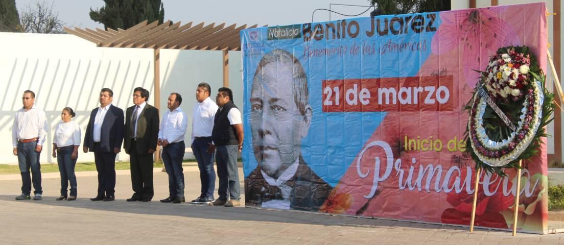 Conmemora Tepetitla el Natalicio de Benito Juárez