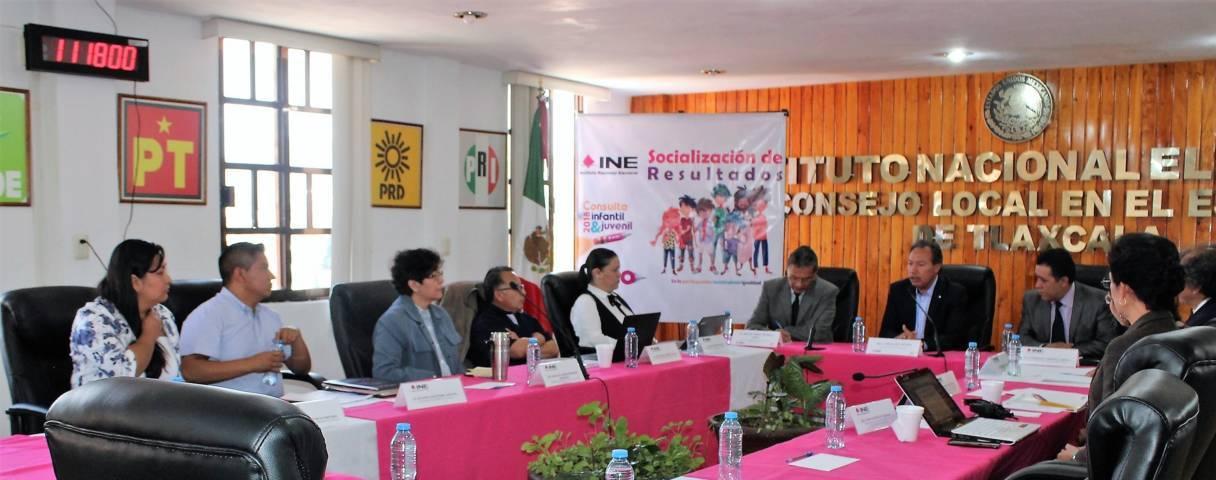 En el INE Tlaxcala, desarrollaron segunda mesa de análisis de resultados de la CIyJ 2018
