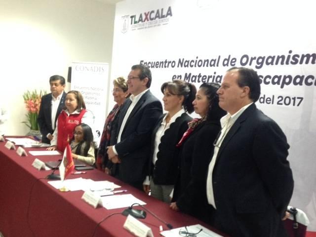 Tlaxcala es sede del Encuentro Nacional de Instituciones en Materia de Discapacidad