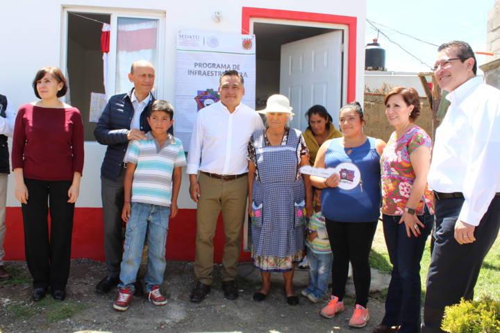 Visita Rosario Robles la comunidad de Atexcatzinco en Tetla