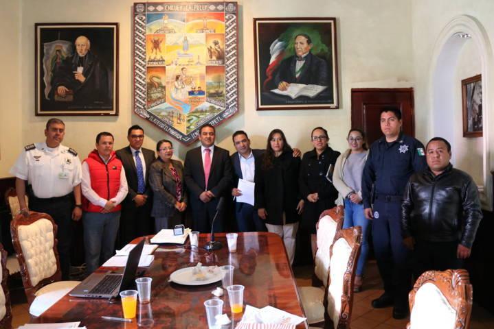 Realizó Ayuntamiento de Chiautempan reunión de Consejo Municipal de Seguridad Pública