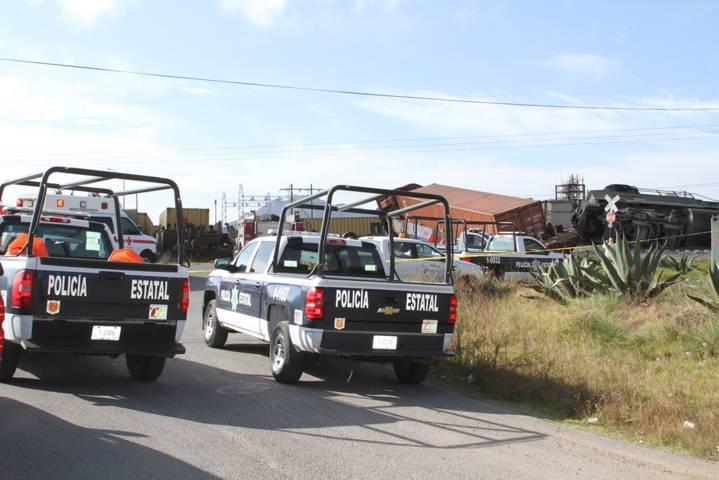 Policía Estatal brinda atención necesaria a tren descarrilado en Yauhquemehcan