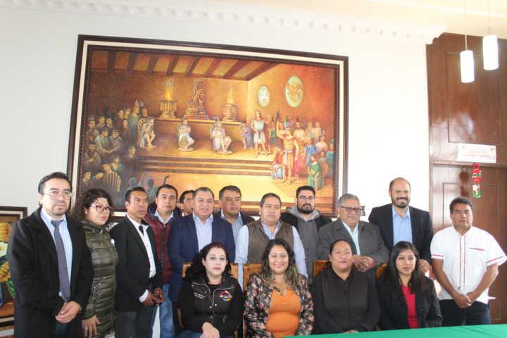 Presidente De Santa Cruz Tlaxcala firmó convenio para sanear el agua del Río Zahuapan