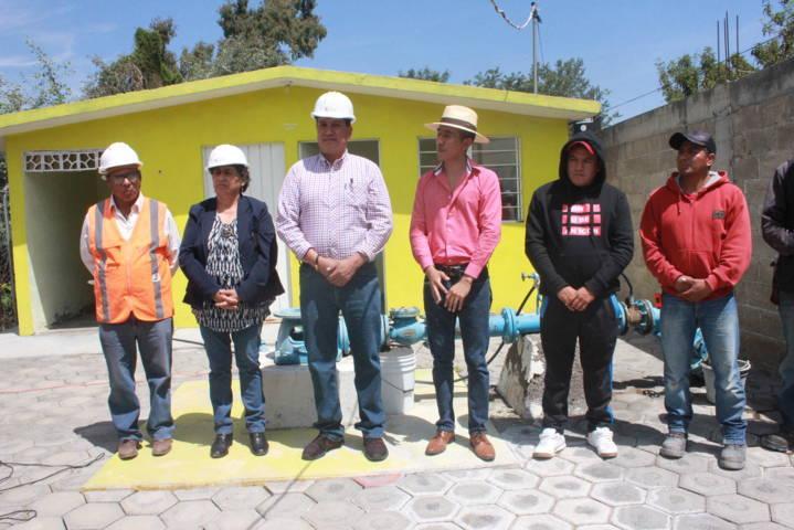 Alcalde mejora la infraestructura hidráulica del pozo de Xochitecatitla