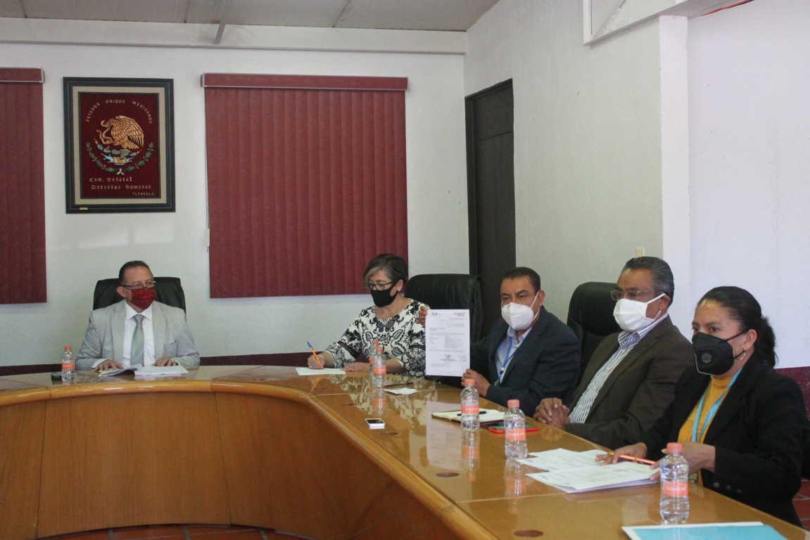 CEDH concilia entre SEPE y comunidad de ixcotla una educación bilingüe