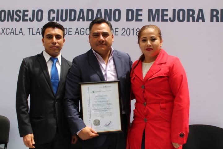 Recibe ayuntamiento de Tetla certificado (PROSARE)