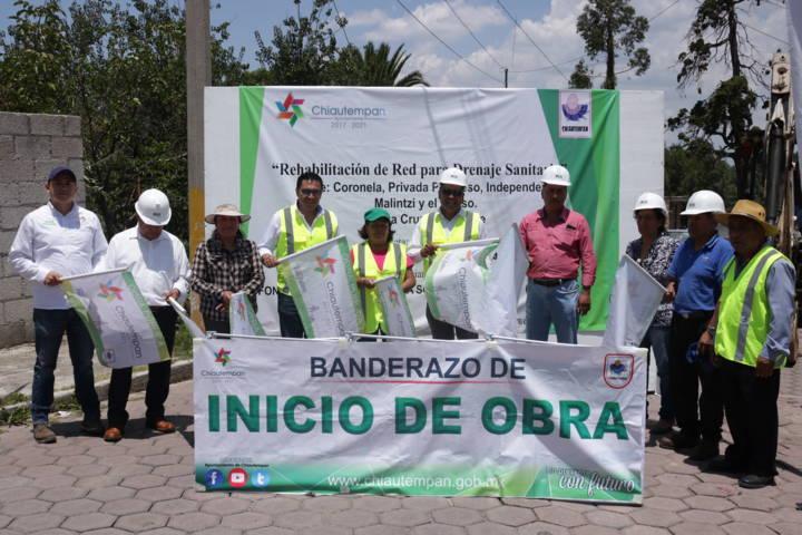 Inician obras de rehabilitación de drenaje en Chiautempan