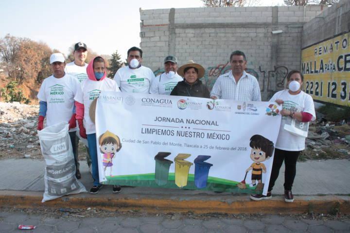 Ayuntamiento de SPM se una a la Jornada Limpiemos México