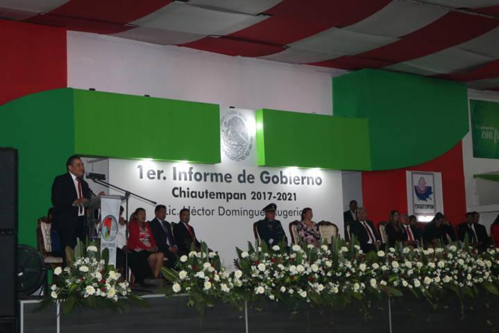 Presenta Héctor Domínguez Rugerio el Primer Informe de Gobierno de Chiautempan