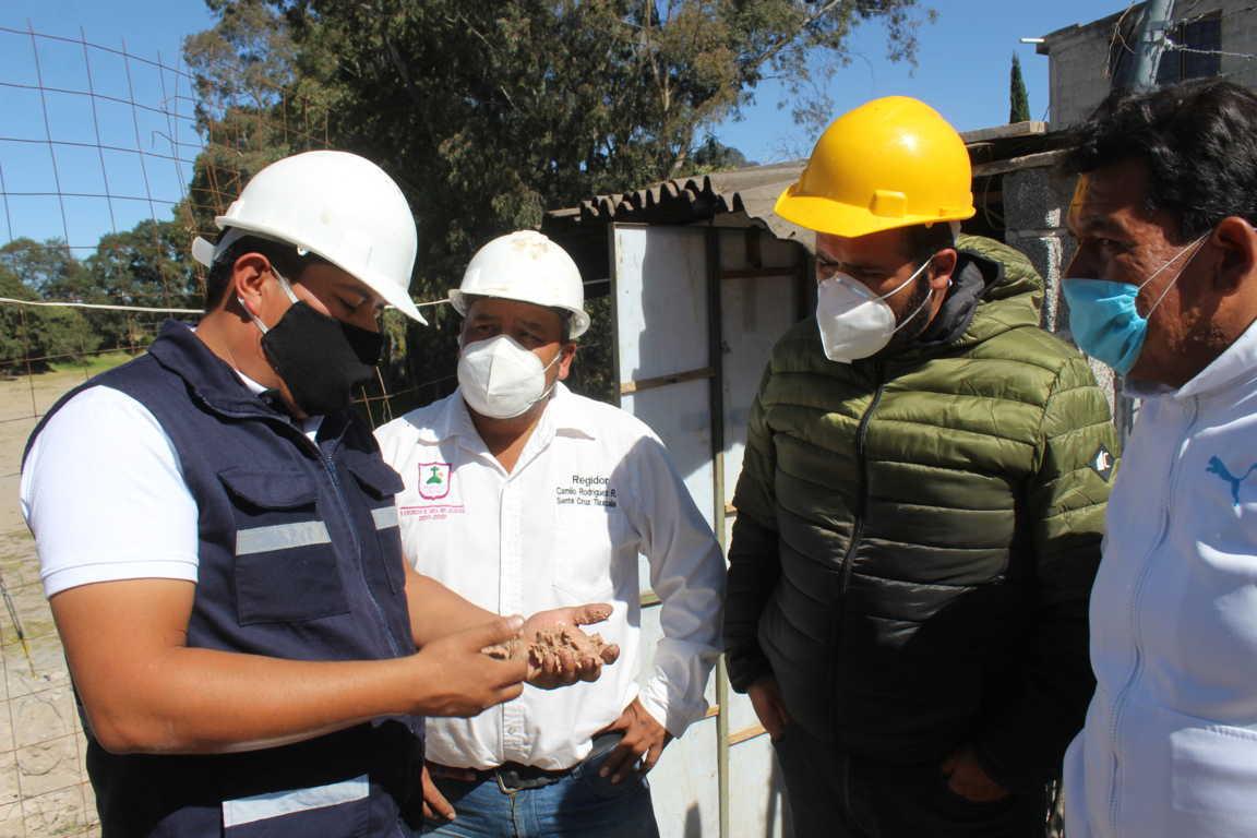 Avanza la construcción del pozo de Guadalupe Tlachco en 55 por ciento