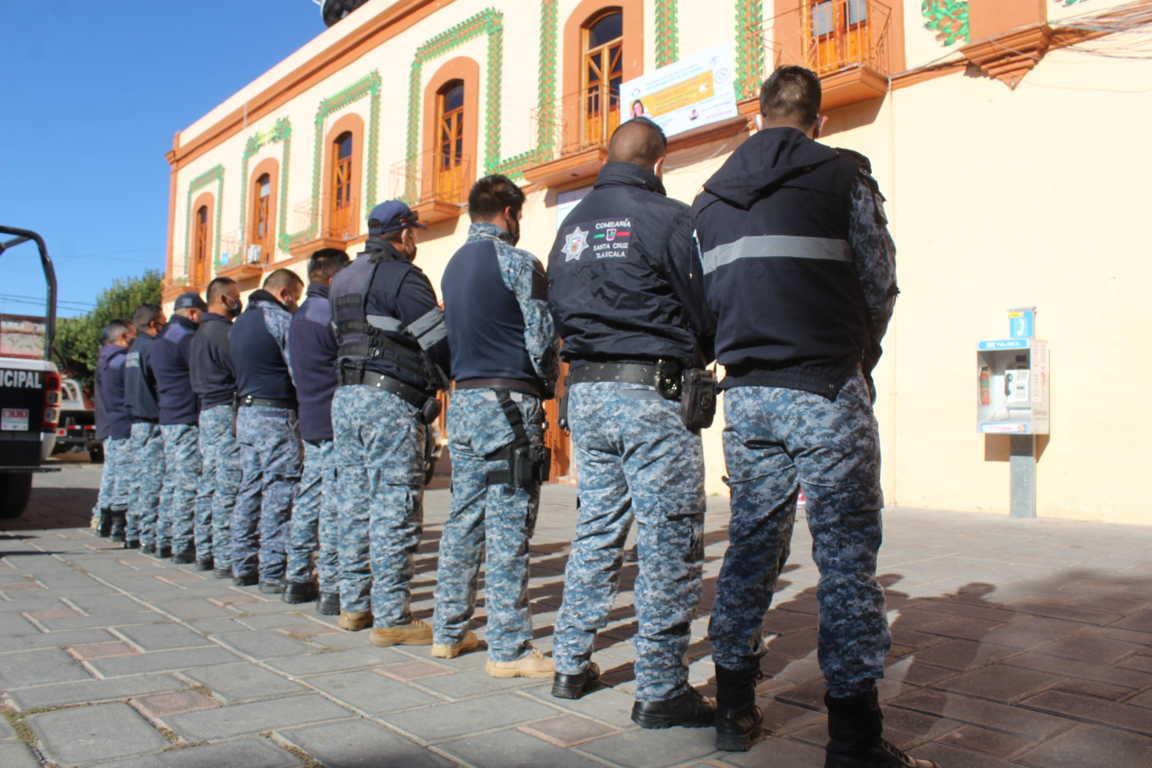 Ayuntamiento de Santa Cruz Tlaxcala profesionaliza a elementos de la policía municipal