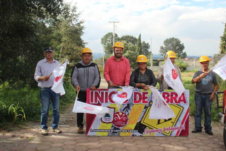 Sanabria Chávez da banderazo para iniciar la construcción de drenaje pluvial