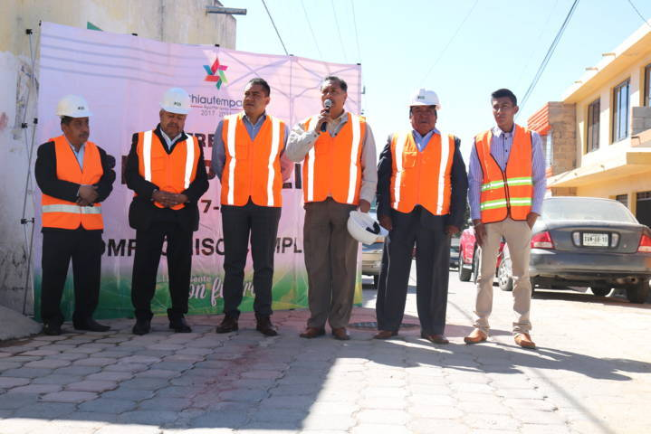 Inaugura Héctor Domínguez rehabilitación de drenaje sanitario en Santa Cruz Guadalupe