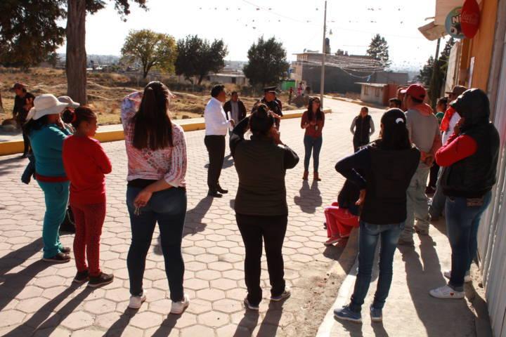Eleazar Molina Pérez reafirma compromiso con la población tetlense en temas de seguridad