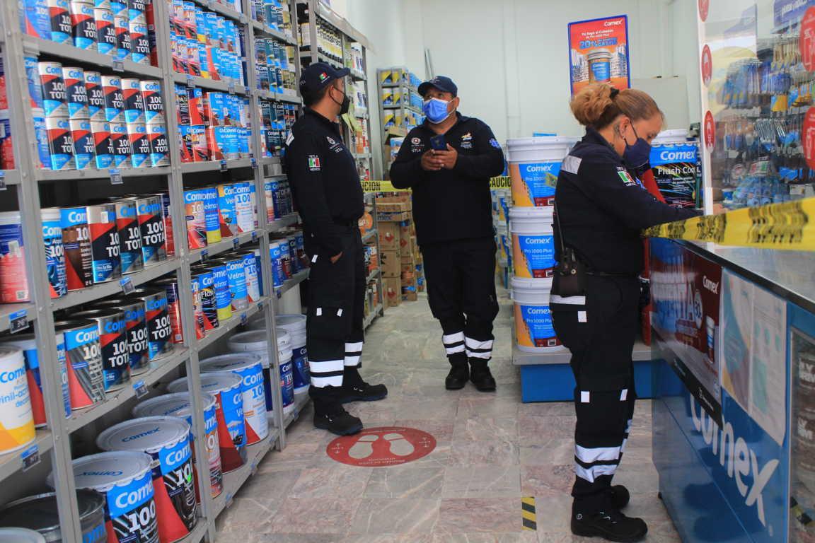 Supervisa PC de Tetla condiciones de seguridad en establecimientos
