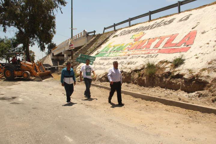 Alcalde RZC supervisa avance de obra en beneficio de la población