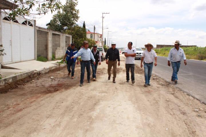 Obra Pública en Tetla, ejecutada al 70%