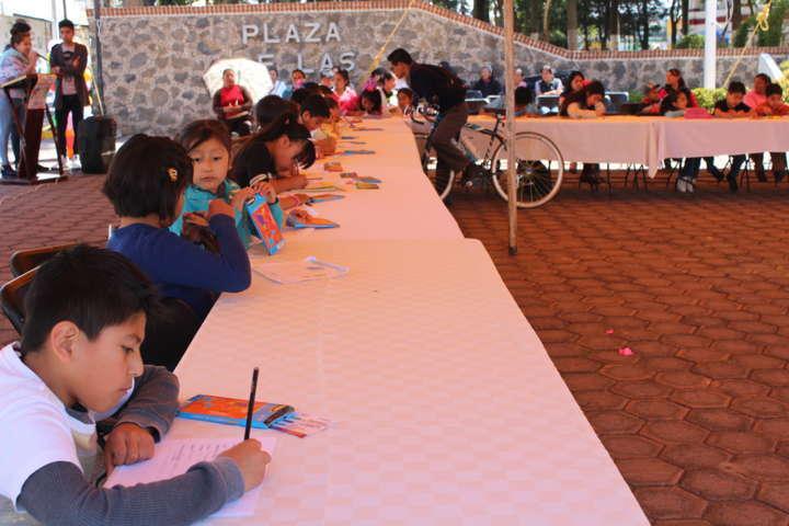 Se llevó a cabo primer concurso de dibujo para niños de Tetla de la Solidaridad