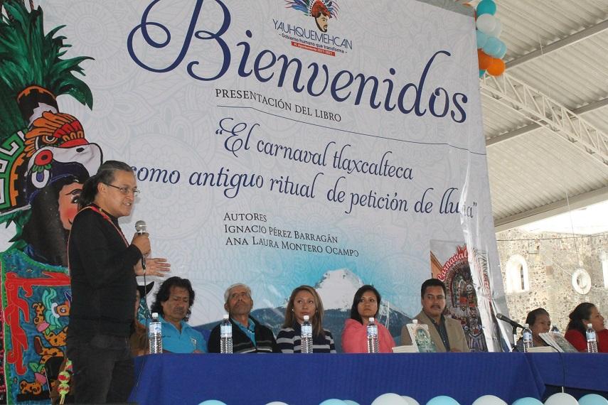 """El libro """"El Carnaval Tlaxcalteca"""" llega a Yauhquemehcan"""